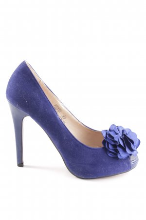 Buffalo girl Peeptoe Pumps blau Casual-Look