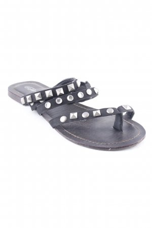 Buffalo girl Strapped Sandals black beach look