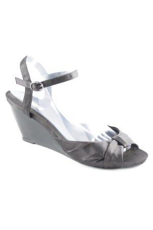 Buffalo girl Riemchen-Sandaletten schwarz klassischer Stil