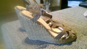 Buffalo girl High-Heeled Sandals light brown-beige