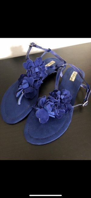 Buffalo girl Strapped High-Heeled Sandals blue