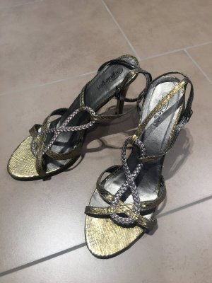 Buffalo girl Strapped High-Heeled Sandals silver-colored-gold-colored