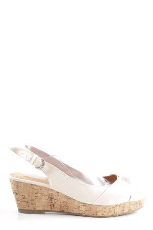 Buffalo girl Wedges Sandaletten weiß-nude Casual-Look