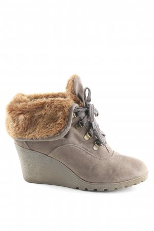 Buffalo girl Winter-Stiefeletten graubraun-hellbraun Country-Look