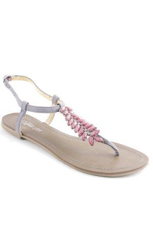 Buffalo girl Zehentrenner-Sandalen mehrfarbig Glanz-Optik