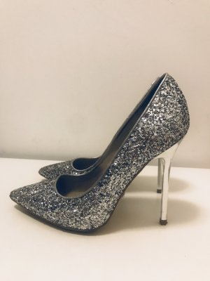 Buffalo Glitzer-Pumps in silber