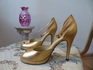 Buffalo Golden Snake Print Heels