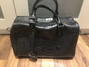 Buffalo Handtasche, schwarz croco Optik