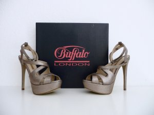Buffalo London High Heel Sandal bronze-colored-grey brown leather