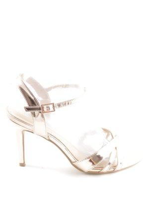 Buffalo High Heel Sandaletten goldfarben Casual-Look