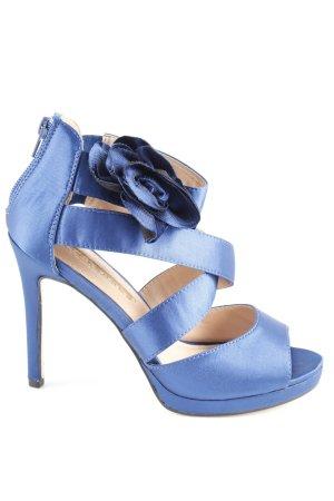 Buffalo High Heel Sandaletten blau-schwarz Elegant