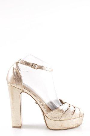 Buffalo High Heel Sandaletten goldfarben extravaganter Stil