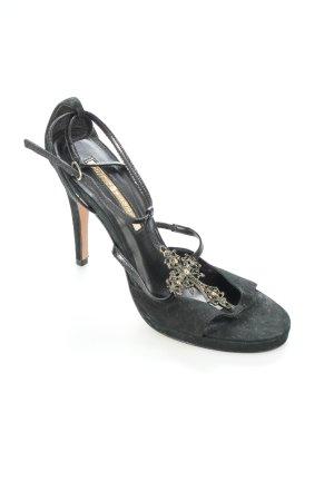 Buffalo High Heel Sandaletten schwarz Gothic-Look