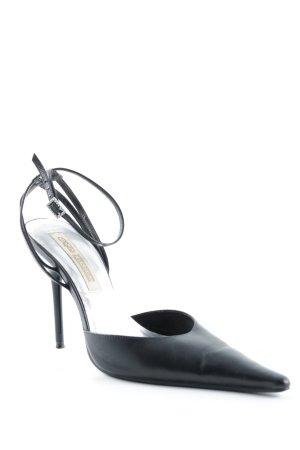 Buffalo High Heel Sandal black-silver-colored elegant