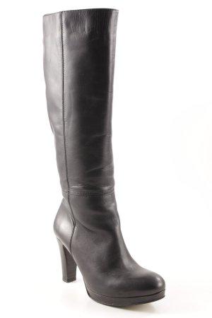 Buffalo High Heel Stiefel schwarz schlichter Stil