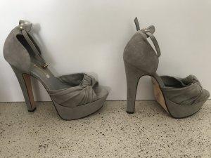 Buffalo high heels 41 grau Wildleder