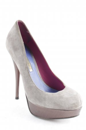 Buffalo High Heels anthrazit-grau extravaganter Stil