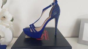 Buffalo London Plateauzool Sandalen met Hoge Hakken blauw