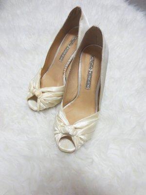 Buffalo High Heels, Gr. 36, beige Satin, Neu, Absatz 10cm