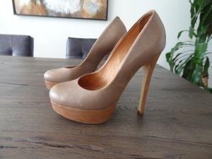 BUFFALO High Heels, Gr. 37, graubraun!