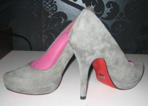 Buffalo High heels grau Wildleder mit roter Sohle Gr. 37