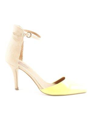 Buffalo High Heels neongelb-beige extravaganter Stil