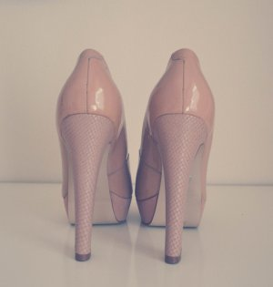 Buffalo High Heels nude/rosa