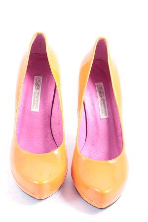 Buffalo High Heels orange Lack-Optik