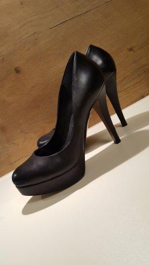 Buffalo High Heels, Pumps, Nappa Leder, schwarz, Gr. 39