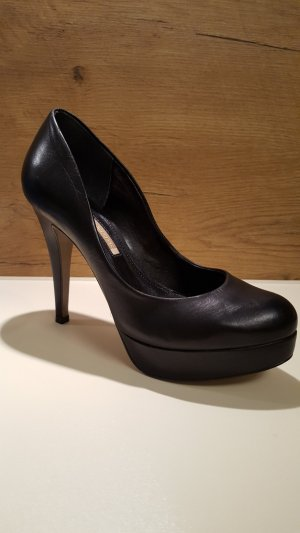 Buffalo High Heels, Pumps, Nappa Leder, schwarz, Gr. 39