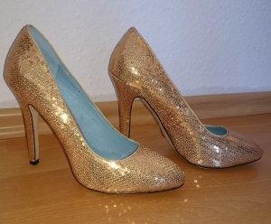 Buffalo - High Heels - Pumps - Pailletten - Gold