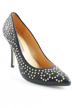 Buffalo High Heels schwarz-goldfarben Elegant
