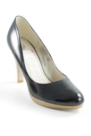 Buffalo High Heels schwarz-hellbraun klassischer Stil