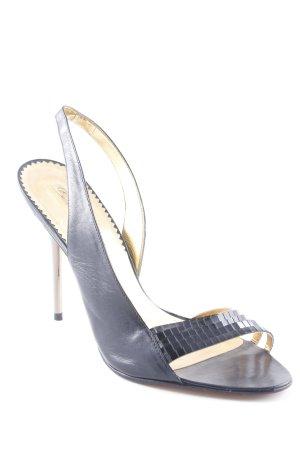 Buffalo High Heels schwarz-silberfarben Casual-Look