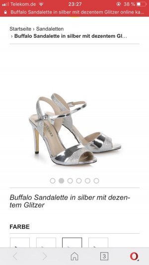 Buffalo high heels Silber