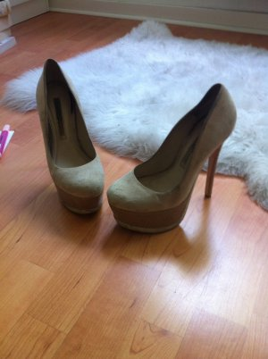 Buffalo Highheels in beige