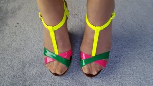 Buffalo Highheels Wedges bunt neon