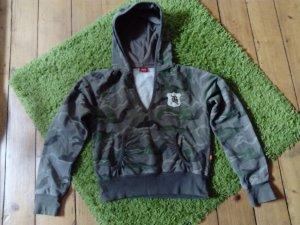 Buffalo Camicia con cappuccio grigio scuro-cachi