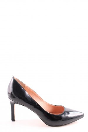 Buffalo Keil-Pumps schwarz Business-Look