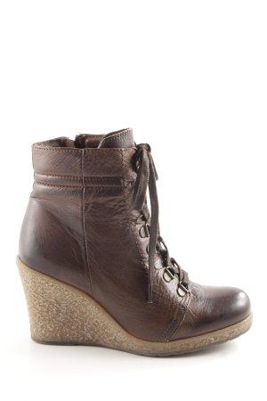 Buffalo Keil-Stiefeletten braun-creme Casual-Look
