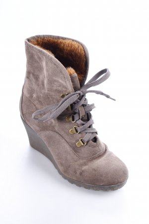 Buffalo Keil-Stiefeletten graubraun Casual-Look