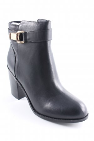 Buffalo Keil-Stiefeletten schwarz Business-Look