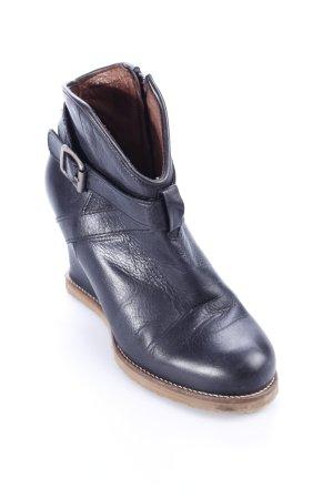 Buffalo Keil-Stiefeletten schwarz Casual-Look
