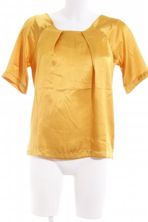 Buffalo Kurzarm-Bluse goldorange Urban-Look
