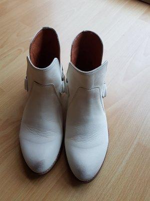 Buffalo Kurzschaft-Stiefel, Boots, offwhite