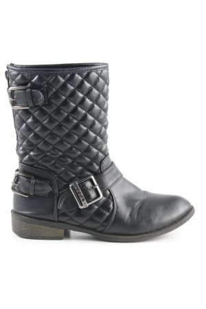 Buffalo Short Boots black-silver-colored casual look