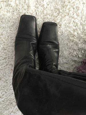 Buffalo Leder Stiefel schwarz Gr. 39