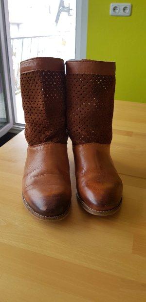 Buffalo Leder Stiefeletten Boots Größe 38 Wildleder