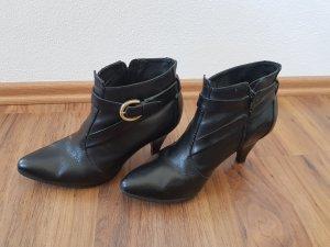 Buffalo Leder-Stiefeletten schwarze