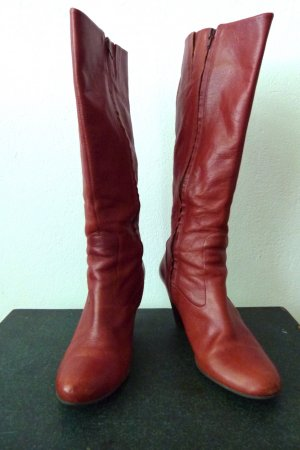 Buffalo London Heel Boots cognac-coloured leather